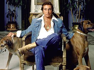 Bob Guccioni at home with dogs