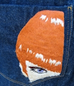 Vintage Clothing Embroidered Jeans