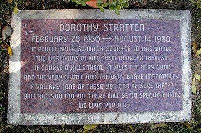 Dorothy Stratten's Grave Stone